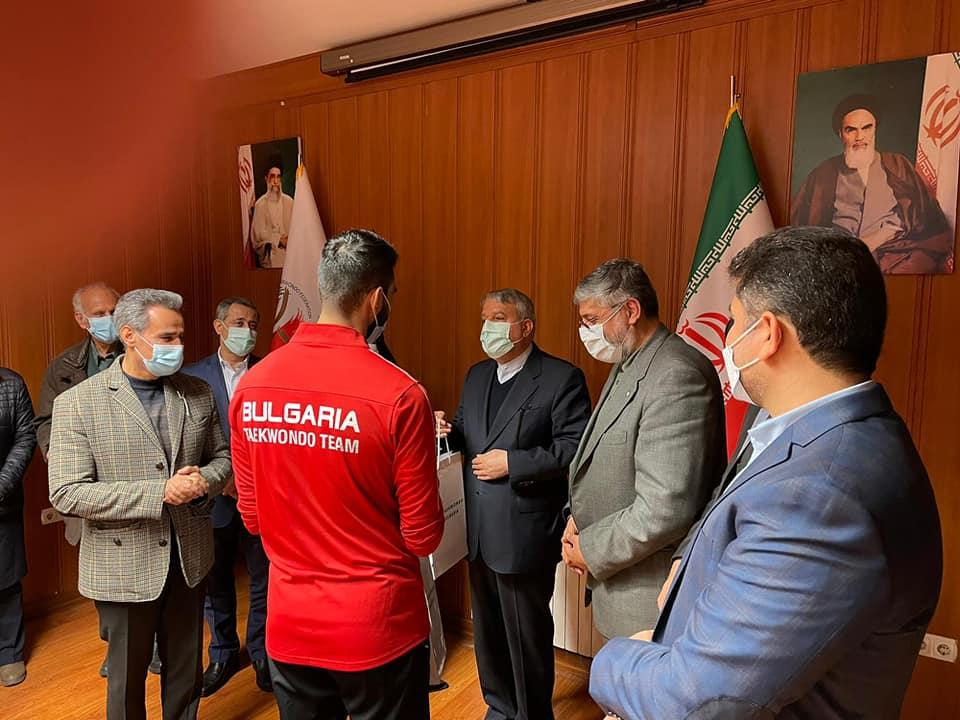 Президентът на Иранския олимпийски комитет посрещна таекуондистите ни