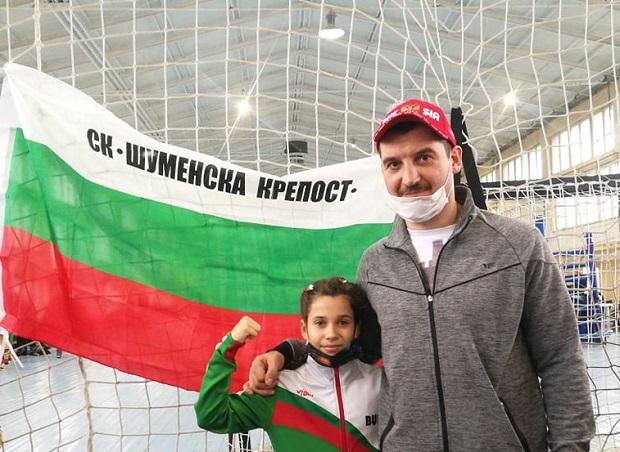 11-годишната Никол откри Държавното по кикбокс в Шумен