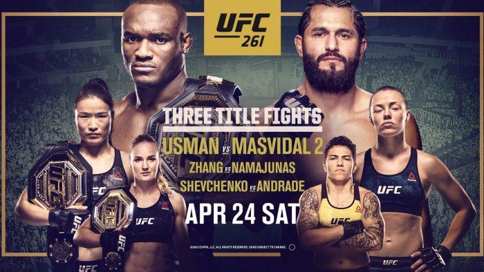 Пълна бойна карта на UFC 261