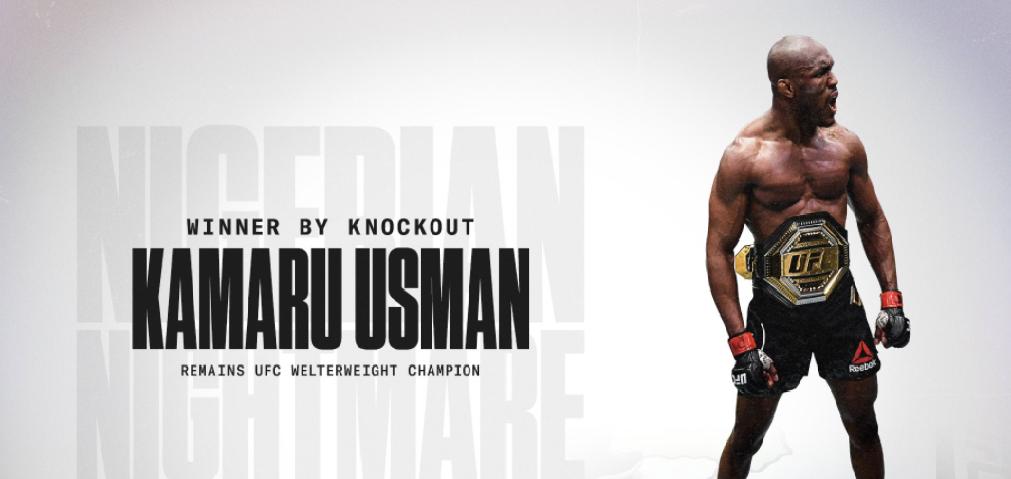 Усман нокаутира Масвидал и продължава доминацията си в UFC
