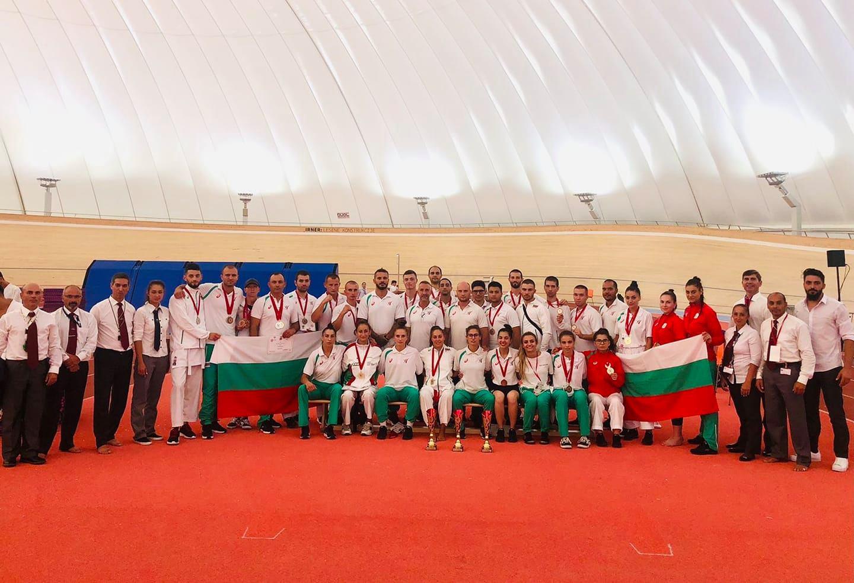 България с пет европейски титли по шотокан от Словения
