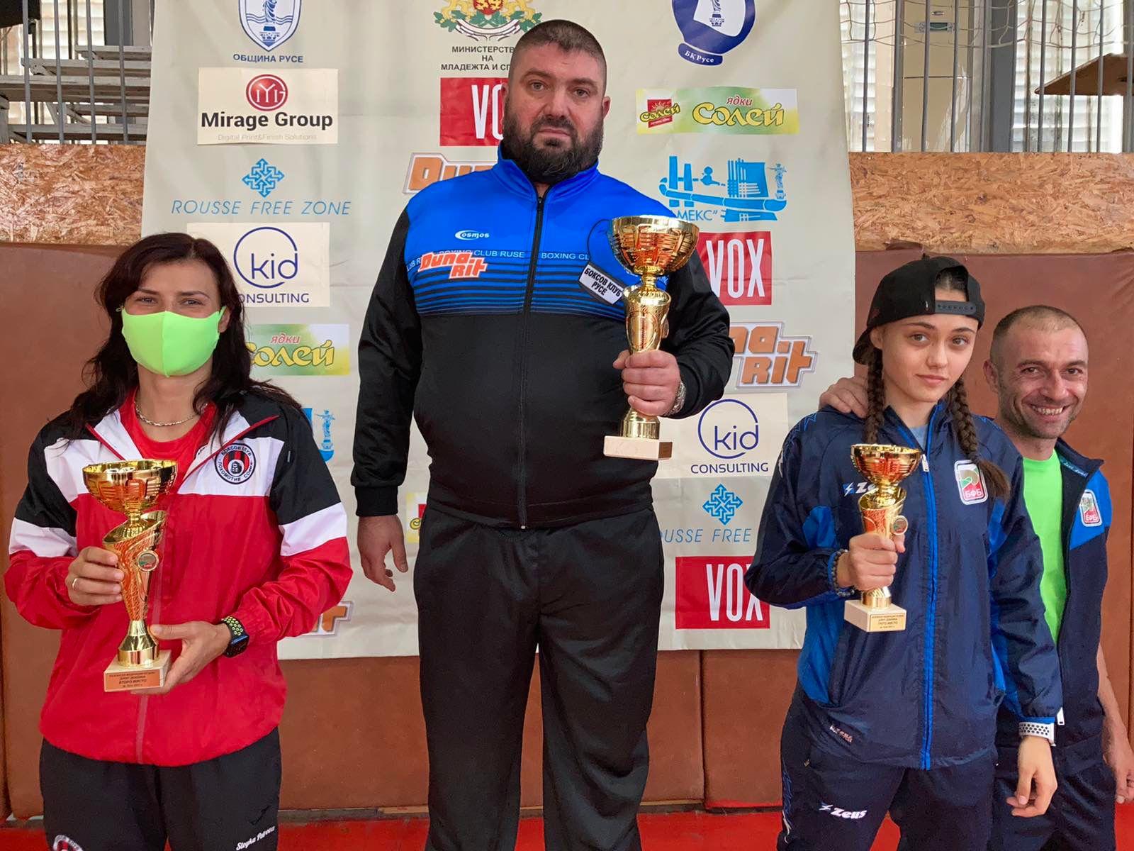 Русенската школа по бокс с най-много шампионки на Държавното първенство